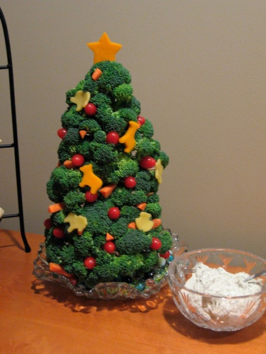 Baum aus Brokkoli