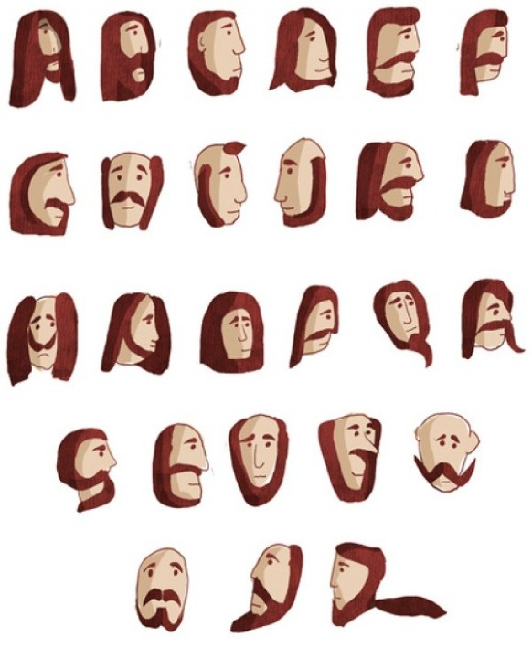 Bearded Alphabet