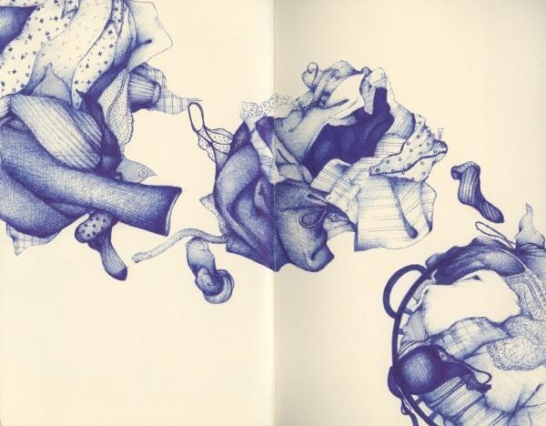 Bilder mit einem Kugelschreiber gezeichnet 01