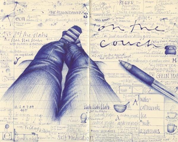 Bilder mit einem Kugelschreiber gezeichnet 20