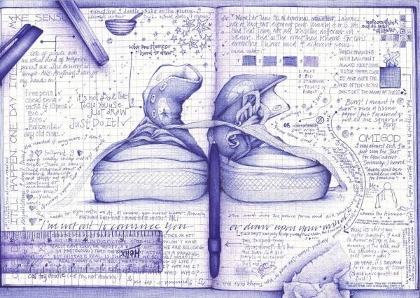 Bilder mit einem Kugelschreiber gezeichnet 21