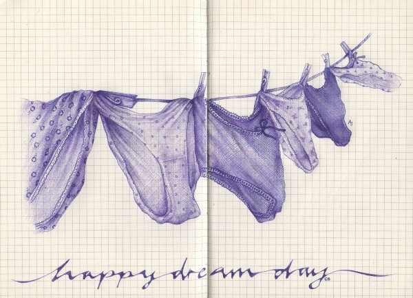 Bilder mit einem Kugelschreiber gezeichnet 23