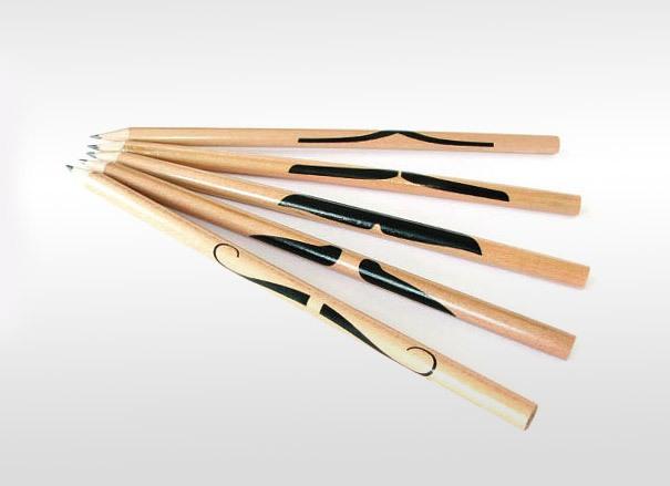 Bleistifte mit Schnauzbart
