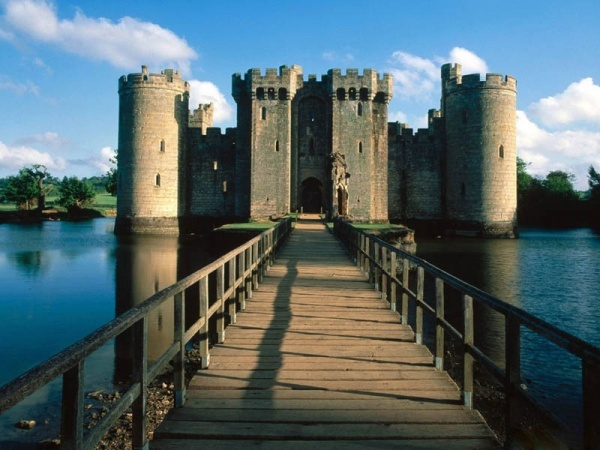 Burg Bodiam Castle in East Sussex