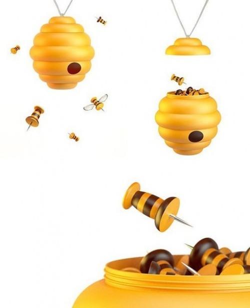 Button Bienen