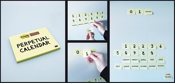 Ewiger Kalender Post-it