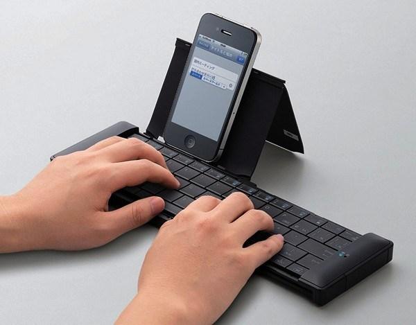 Faltbare Tastatur fuer Smartphone