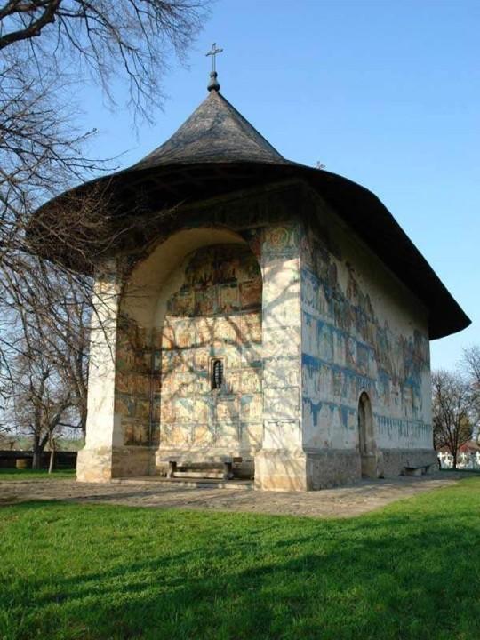 Gemalte Kirche in Arbor