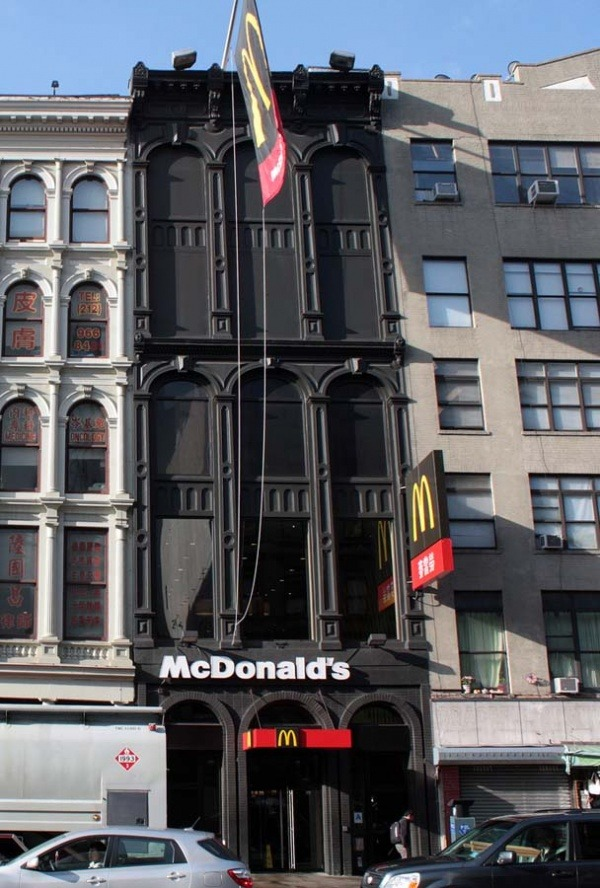 Gusseisen McDonalds in New York