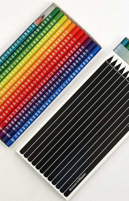 Kalender aus Bleistiften