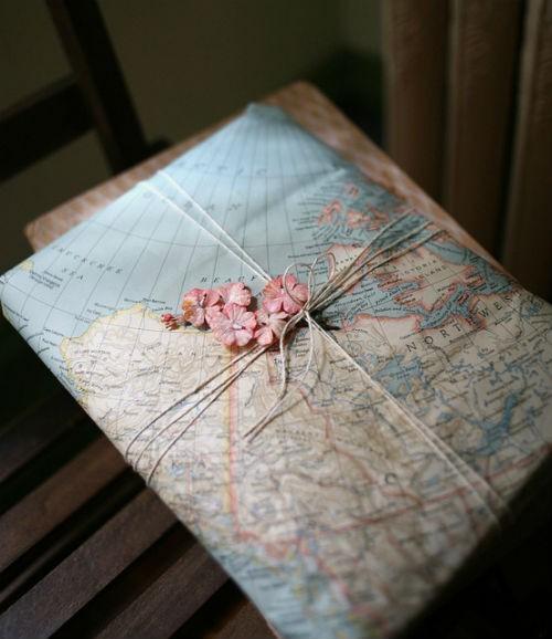Karte statt Geschenkpapier