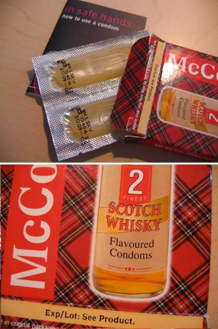 Kondom mit Whisky - Geschmack