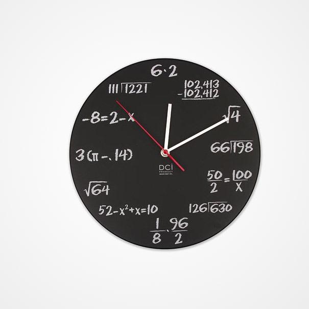 Mathematische Uhrenkarte