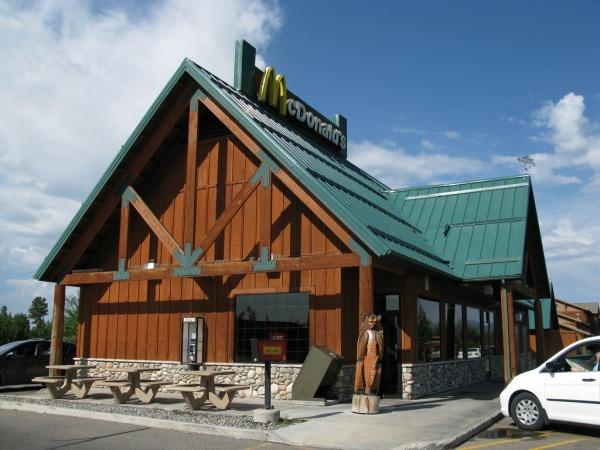McDonalds in Yellowstone-Park