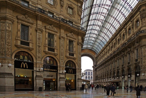 McDonalds in der Galleria Vittorio Emanuele