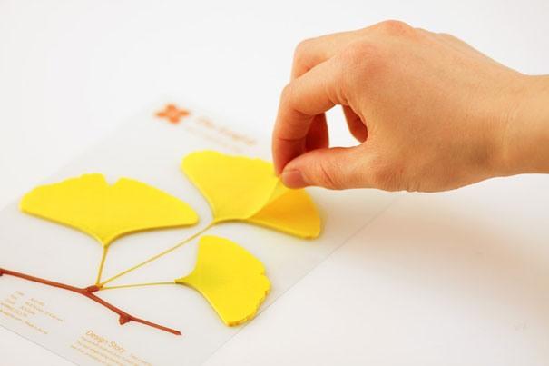 Papierunterlagen klebrige Blaetter