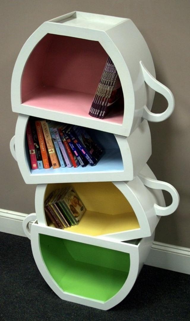 originelle buecherregale. Black Bedroom Furniture Sets. Home Design Ideas