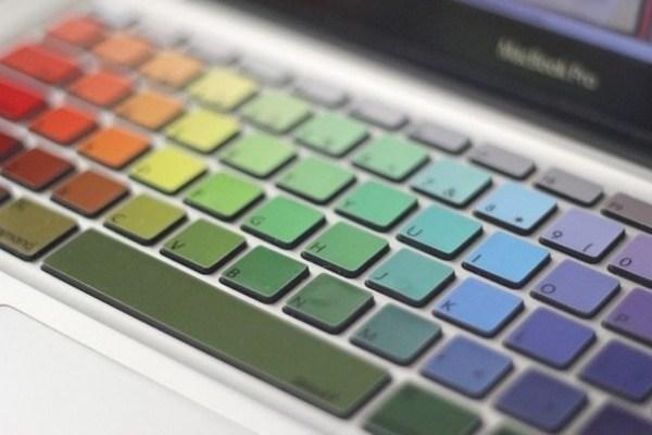 Regenbogen-Tastatur