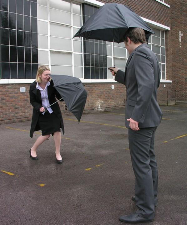 Regenschirm - Wasserpistole 1
