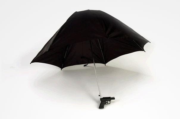 Regenschirm - Wasserpistole