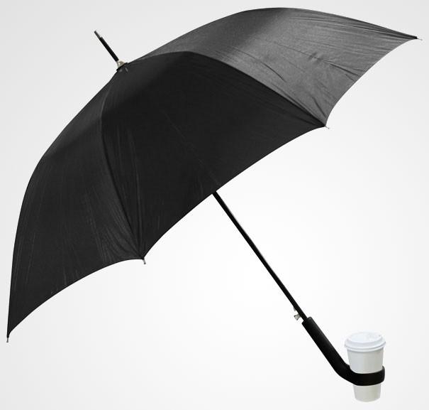 Regenschirm mit Becherhalter