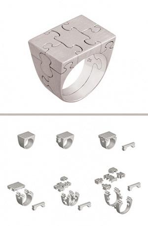 Ring aus mehreren Details gemacht