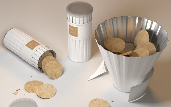 Schuessel mit Chips