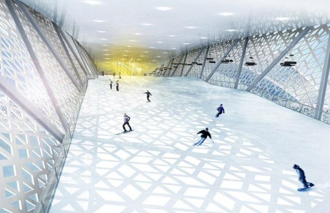 Ski Komplex besteht aus drei Bruecken 03
