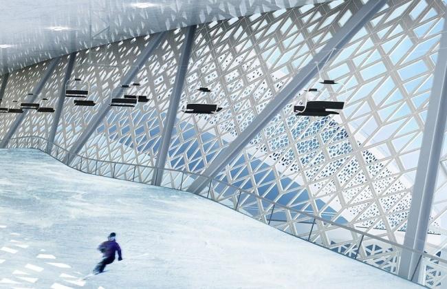 Ski Komplex besteht aus drei Bruecken 05