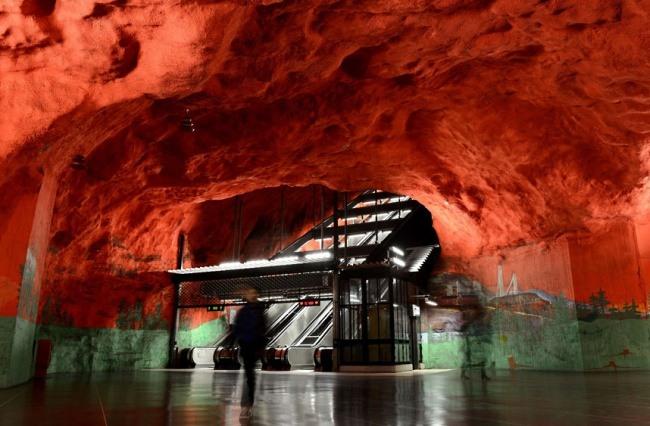 Solna Station in Stockholm