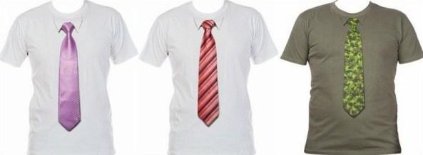 T-Shirt mit Krawatte