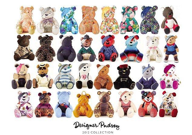 Teddybaeren von Modedesignern