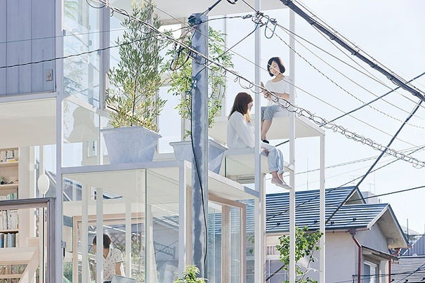 Transparentes Haus in Japan 1
