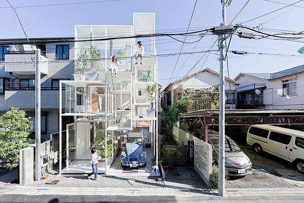 Transparentes Haus in Japan