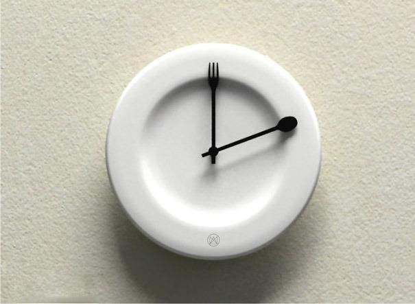 Uhr als Teller