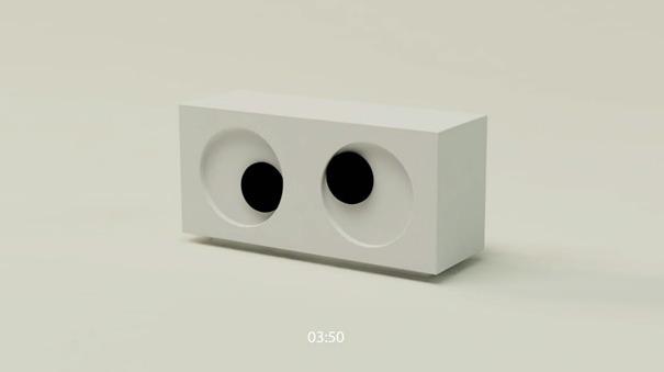 Uhr als ein Auge
