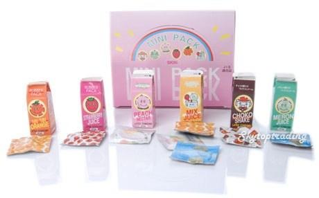 Verpackung stilisiert als Fruchtsaft-Verpackung