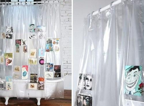 Vorhang mit Taschen