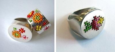 gesticktee Ringe