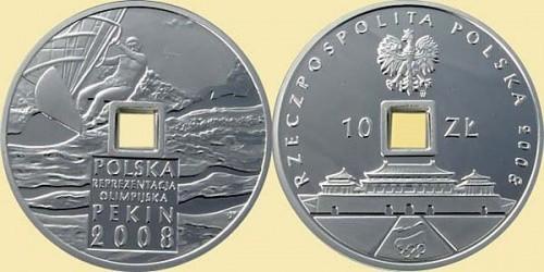 polnische Muenze 10 Zloty