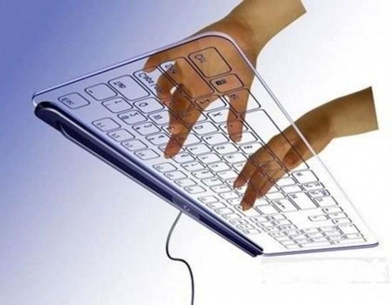 transparente Tastatur