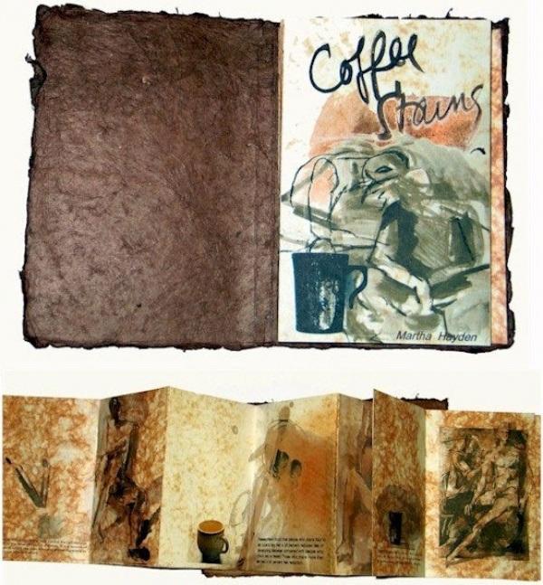 Buch mit Kaffeeflecken