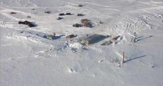 Der kälteste Platz der Erde allgemein ist der Station Wostok