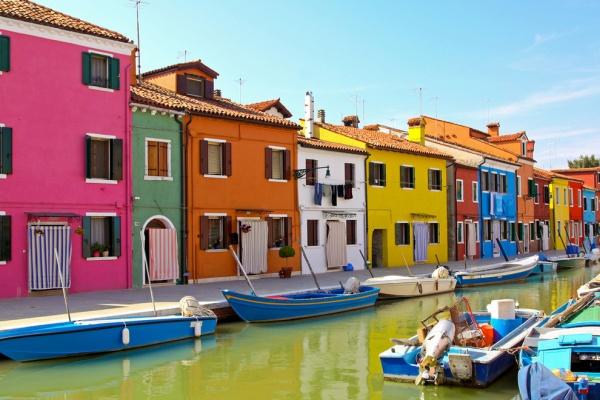 Die Insel Burano, Venedig, Italien