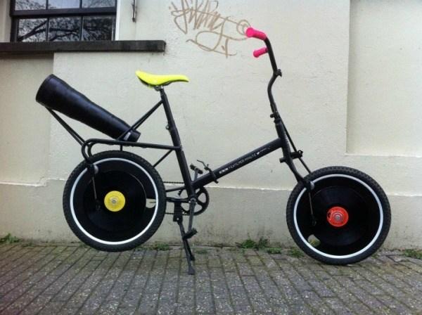 Fahrrad-Grammophon