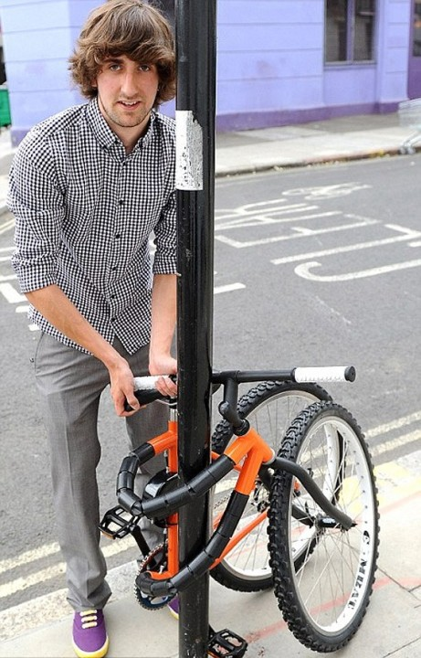 Fahrrad mit Diebstahlsicherung