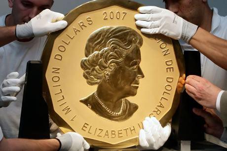 Goldmuenze von Koenigin Elizabeth II