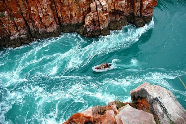 Horizontaler Wasserfall, Talbot Bay, Australien