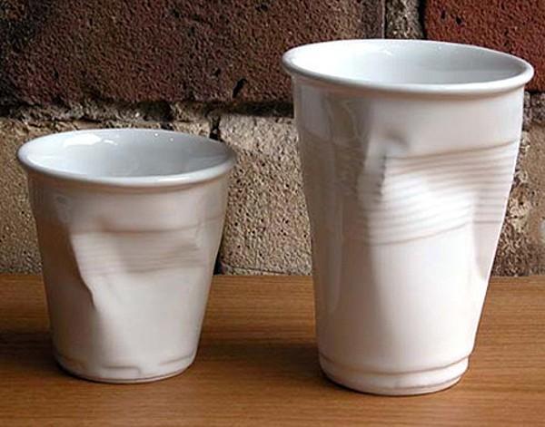 Kunststoffbecher aus Porzellan hat Designer