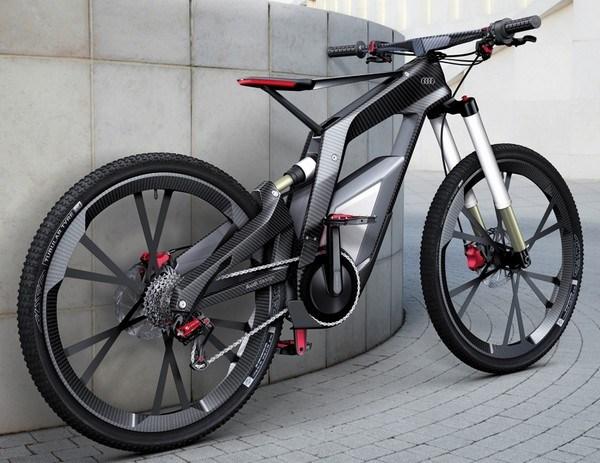 Sportliches Fahrrad mit Elektroantrieb von Audi 1